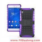 เคสมือถือโซนี่ Case Sony Xperia M4 Aqua/Dual เคสรุ่นกันกระแทกขอบสี แบบที่3