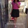(เด็กโต) เดรสผ้ายืดสีชมพู ลายคิตตี้ Kitty กระโปรงดำจุดขาว ผ้านิ่ม ใส่สบายค่ะ size 13-17 ( 8-15 ปี)