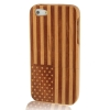 Case เคส Woodcarving USA Flag Detachable Cherry Wood iPhone 5