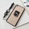 (025-424)เคสมือถือ Case OPPO R9 Plus เคสพลาสติกใสขอบนิ่มพร้อมแหวนมือถือโลหะ