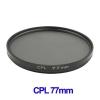 77mm Camera CPL Filter Lens (Black)