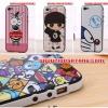 (008-023)เคสมือถือไอโฟน case iPhone 5C เคสนิ่มขอบพลาสติกสีพื้นหลังลายการ์ตูนน่ารักๆ