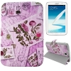Case เคส 3-folding Postcard Series Carnation Samsung Galaxy Note 8.0 (N5100)
