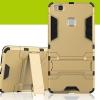 (394-024)เคสมือถือ Case Huawei P9Lite/G9Lite เคสกันกระแทกขอบนิ่มพร้อมขาตังโทรศัพท์ในตัวทรง IRON MAN