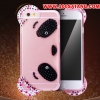 (398-006)เคสมือถือไอโฟน Case iPhone 6/6S เคสนิ่มใสลายหมีน้อย 3D ประดับเพชร