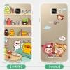(432-001)เคสมือถือซัมซุง Case Samsung A7 (2016) เคสนิ่มใสแบบบางกันรอยนิ้วมือลายการ์ตูนน่ารักๆ