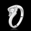 R905 แแหวนเพชรCZ ตัวเรือนเคลือบเงิน 925 หัวแหวนรูปหัวใจ ขนาดแหวนเบอร์ 7