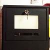 (562-001)ตู้จดหมาย/ไปรษณีย์สแตนเลสมีไฟโชว์กลางคืนแบบโซล่าเซลล์