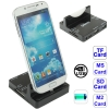 All in 1 Read Card + 2 Ports USB 2.0 HUB Dock Charger Adapter Samsung Galaxy S 3 III