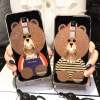 (025-576)เคสมือถือ Case OPPO R7 Plus เคสนิ่มลายหมี พร้อมสายคล้องคอแบบถอดแยกได้