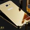 (พร้อมส่ง)เคสมือถือซัมซุง Case Samsung A9/A9000 เคสกรอบโลหะพื้นหลังอะคริลิคแวววับคล้ายกระจกสวยหรู