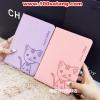 (391-015)เคสมือถือซัมซุง Case Samsung Galaxy Tab A 9.7 นิ้ว เคสนิ่มสมุดเปิดข้างลายแมวน่ารักๆ DOMI CAT