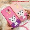 (391-004)เคสมือถือซัมซุง Case Samsung S6 edge plus เคสนิ่มฝาหลังลายแมวน่ารักๆ DOMI CAT