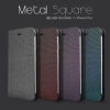 Hanton : Metal Square Leather Flip Plain Case Hard Plastic for Apple iPhone 6 Plus (5.5 inch)