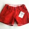 Oshkosh กางเกงขาสั้น สีแดงเลือดหมู แต่งกระดุมปลายขา ปรับเอวได้ ผ้าไม่หนา ใส่ชิวๆ ได้ทุกวันค่ะ size 4,5,6x