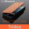 TRIDEA : Italian Flip Slim Prime Case For Apple iPhone 5