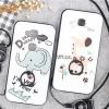 (025-691)เคสมือถือ Case Huawei G7 Plus เคสนิ่มลายน่ารักๆ มีแหวนมือถือพร้อมสายคล้องคอถอดแยกได้