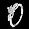R899 แแหวนเพชรCZ ตัวเรือนเคลือบเงิน 925 หัวแหวนมงกุฎแต่งเพชร ขนาดแหวนเบอร์ 7