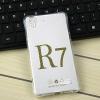 (291-028)เคสมือถือ Case OPPO R7/R7 Lite เคสนิ่มใสบางพื้นจุดกันรอยนิ้วมือ