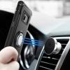 (002-207)เคสมือถือไอโฟน Case Samsung S8+ เคสสไตล์กันกระแทกด้านหลังแหวนสามารถยึดติดกับตัวดูดได้