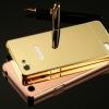(025-029)เคสมือถือ Case Oppo A33/Neo7/Mirror 5 lite เคสกรอบโลหะพื้นหลังอะคริลิคเคลือบเงาทองคำ 24K