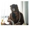 ผ้าคลุมไหล่ พร้อม Hood ลาย Brown หมีบราวน์ เนื้อผ้าขนหนูนุ่มๆ