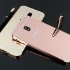 (025-602)เคสมือถือซัมซุง Case Samsung J7 Pro เคสกรอบบัมเปอร์โลหะฝาหลังอะคริลิคเคลือบเงาแวว