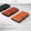Zenus : Western Diary Wallet Genuine Natural Leather For Galaxy Note 5