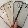 (436-281)เคสมือถือซัมซุง Case Samsung J7+/Plus/C8 เคสนิ่มใสขอบสีแวว