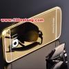 (025-174)เคสมือถือซัมซุง Case Samsung S6 edge เคสกรอบโลหะพื้นหลังอะคริลิคเคลือบเงาทองคำ 24K