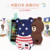 (013-006)เคสมือถือ Case Huawei Honor 4C/ALek 3G Plus (G Play Mini) เคสนิ่มตัวการ์ตูนกระต่ายและหมี 3D