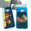 (597-004)เคสมือถือซัมซุง Case Samsung S6 Edge เคสนิ่มใสบลูเรย์หมี