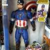 Superhero - Captain America แขนขา ขยับได้ กดที่อกมีไฟกับเสียง สูงประมาณ 12 นิ้ว งานสวยนะคะ