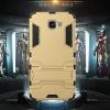 (439-018)เคสมือถือซัมซุง Case Samsung A9 Pro เคสขอบยางประกบหลังสไตล์ Iron Man มีขาตั้งในตัว