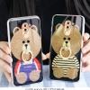 (025-718)เคสมือถือ Case Huawei GR5 2017 เคสนิ่มลายหมี พร้อมสายคล้องคอแบบถอดแยกได้