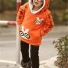 เสื้อกันหนาวสีส้ม ผ้าดีเนื้อนิ่ม สีสวยสดใส สำหรับอายุ 6-10 ปี