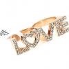Gold LOVE Double Ring แหวนคู่สีทองหล่ออักษร LOVE แต่งคริสตัล สวยมาก