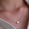 My Little Heart Necklace สร้อยคอพร้อมจี้ชุบทองคำรูปหัวใจดวงจิ๋ว