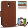 Case เคส ลายตารางหมากรุก หนังนิ่ม Samsung GALAXY S4 IV (i9500)