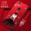 (025-720)เคสมือถือ Huawei P10 Lite เคสนิ่มซิลิโคนลายการ์ตูนผู้หญิง ขอบเพชรพร้อมสายคล้องคอถอดแยกได้