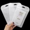 (656-001)ซองซิปพลาสติกใส่เคสโทรศัพท์ จำนวน 100 ซอง หน้าใสหลังขุ่นลายผ้า