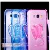 (022-081)เคสมือถือซัมซุง Case Samsung A8 เคสนิ่มใสกระต่ายคริสตัลแสงจันทร์