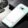 (พร้อมส่ง)เคสมือถือไอโฟน Case Samsung S8 เคสนิ่มขอบสีแฟชั่นขาตั้งด้านหลังเคสยอดฮิตสีมิ้นต์