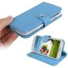 Case เคส Natural แบบพลิกแนวนอน Samsung GALAXY S4 IV (i9500)(Blue)