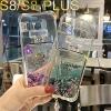 (442-033)เคสมือถือไอโฟน Case Samsung S8+ เคสนิ่มใสสะท้อนแสงแฟลชแฟชั่นสไตล์ตู้น้ำกากเพชรขวดน้ำหอม