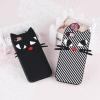 (025-630)เคสมือถือไอโฟน Case iPhone 7 เคสนิ่มซิลิโคนลายแมว 3D