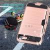 (002-166)เคสมือถือไอโฟน Case iPhone 7 เคสนิ่ม+พื้นหลังพลาสติกกันกระแทกมีช่องใส่การ์ด