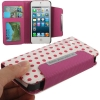 Case เคส 2 in 1 Magenta and White Dot iPhone 5