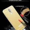(025-423)เคสมือถือ Case Huawei GR5 2017 เคสกรอบโลหะพื้นหลังอะคริลิคแววแบบสไลด์