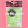 Ultra•Pro Pro-Matte Standard Deck Protector / Sleeve - Lime Green 50ct.